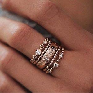 Jewelry - Rose Gold Stacking Ring Set